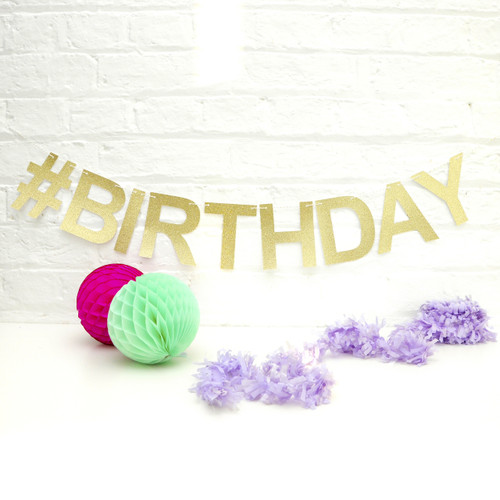 Personalised Glitter Garland for birthday parties, baby showers, hen parties and for home decor