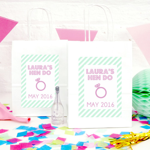 Personalised Bold Hen Party Bag