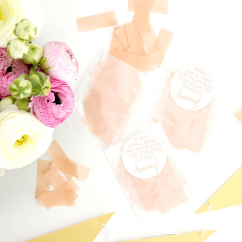 Personalised Wedding Confetti Stickers