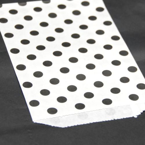Black Polka Dot Paper Party Bags