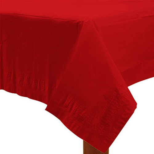 Red Paper Table Cover