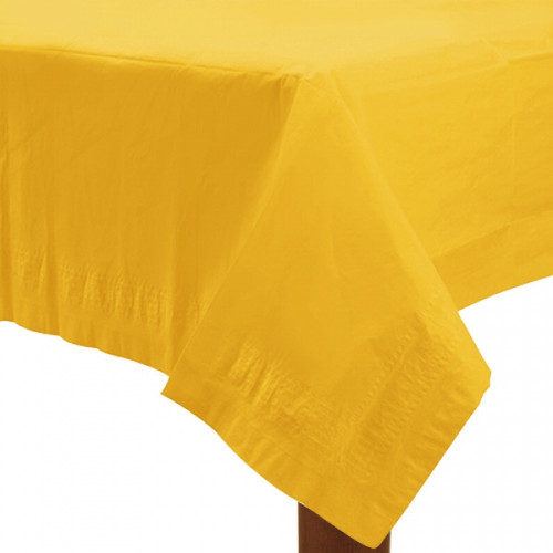 Yellow Paper Table Cover