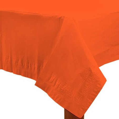 Orange Paper Table Cover