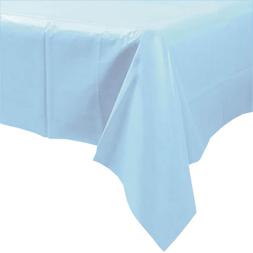 Light Blue Paper Table Cover