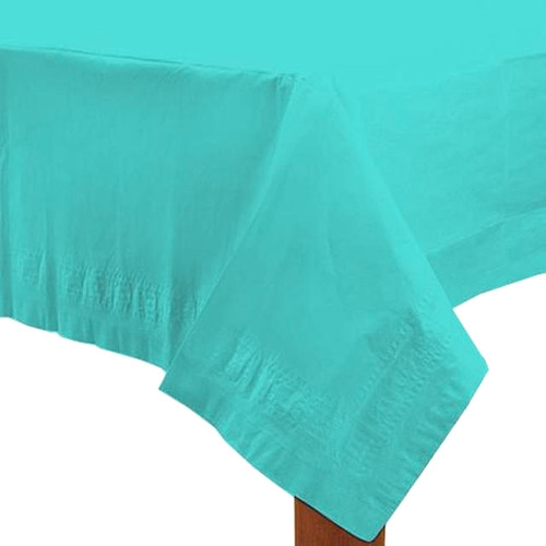 Turquoise party table cover