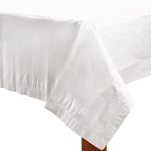 White Paper Table Cover