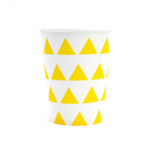 Yellow Triangle Paper Cups