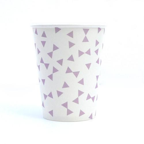 Purple Triangle Paper Cups