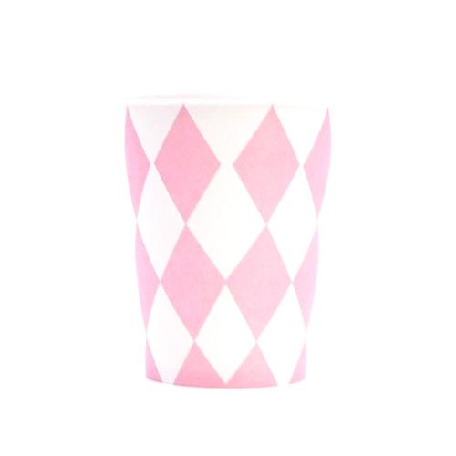 Pink Diamond Paper Cups