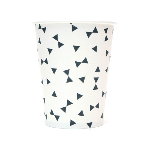 Black Triangle Paper Cups