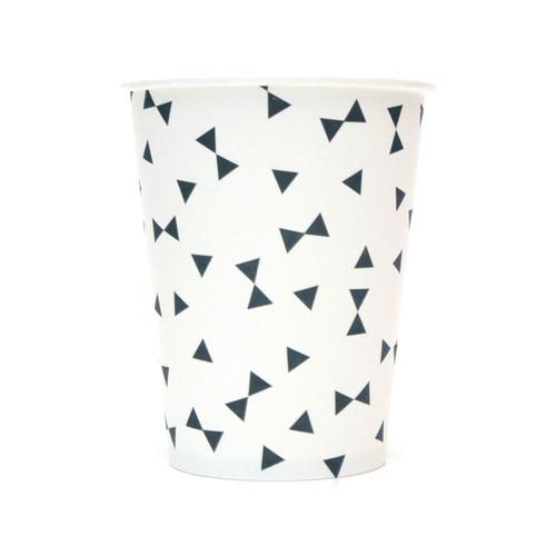 Black Triangle Paper Cups