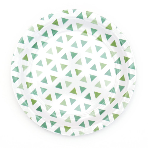 Green Triangle Paper Plates