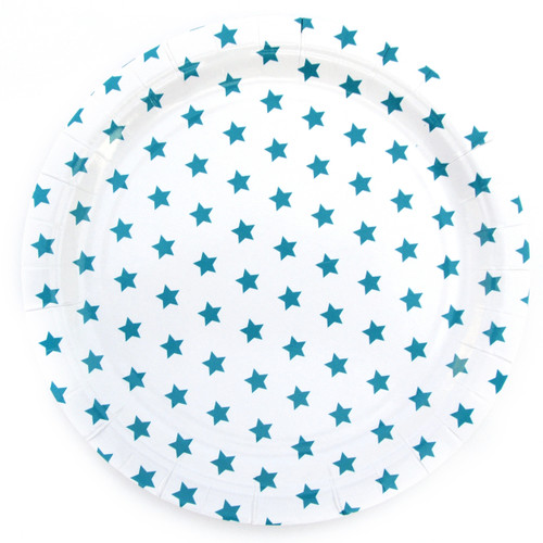 Blue Star Paper Plates