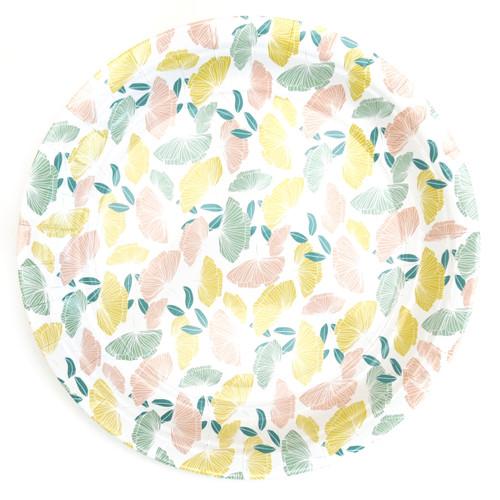 Floral Print Paper Plates
