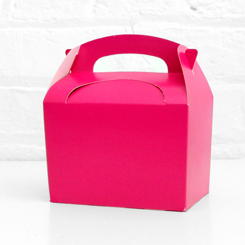 Dark pink food treat box for birthday party snacks, picnics, goodie bags, gifts and street food.