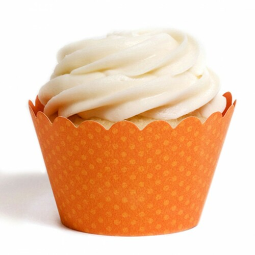 Orange Cupcake Wrappers