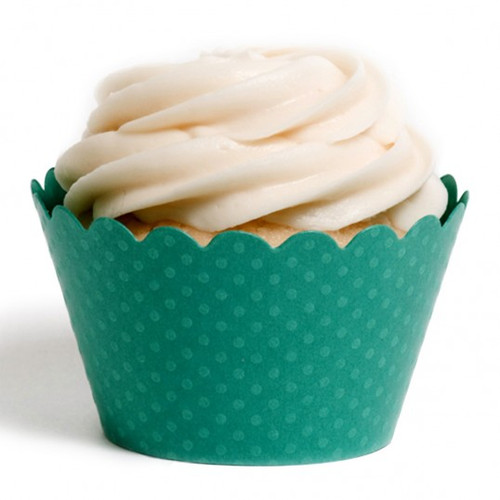 Dark Green Cupcake Wrappers