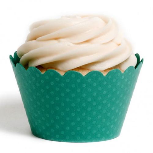 Dark Green Cupcake Wrappers