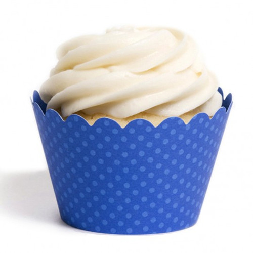 Dark Blue Cupcake Wrappers
