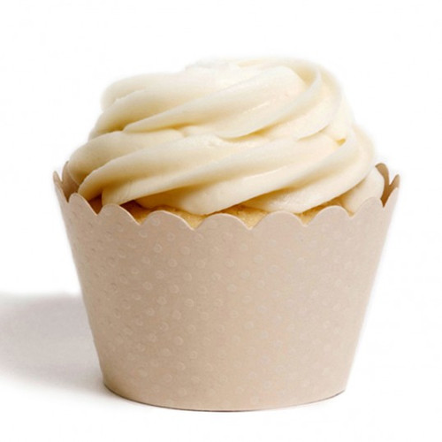 Cream Cupcake Wrappers