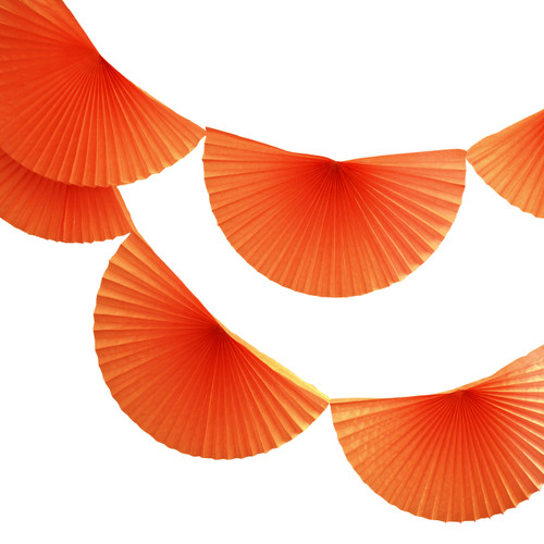 Orange Paper Fan Garland Bunting Decoration for Birthday Parties, Weddings, Baby Showers and Hen Dos
