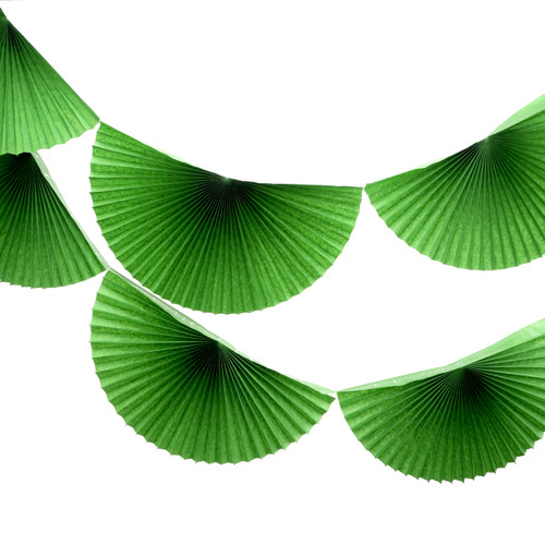 Green Paper Fan Garland Bunting Decoration for Birthday Parties, Weddings, Baby Showers and Hen Dos