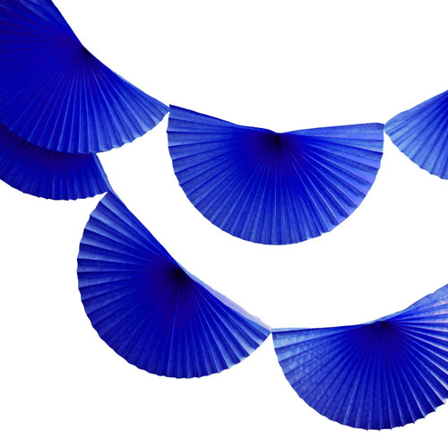 Dark Blue Paper Fan Garland Bunting Decoration for Birthday Parties, Weddings, Baby Showers and Hen Dos