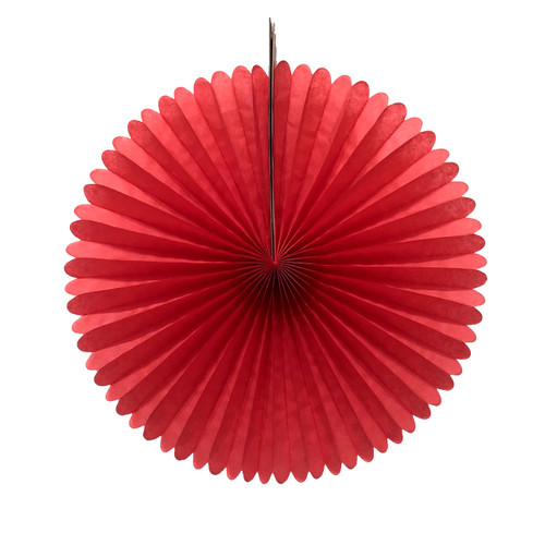 Red Tissue Paper Fan Decoration for Birthday Parties, Weddings, Baby Showers and Hen Dos