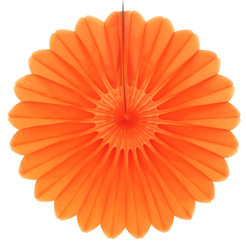 Orange Deluxe Tissue Paper Fan Decoration for Birthday Parties, Weddings, Baby Showers and Hen Dos
