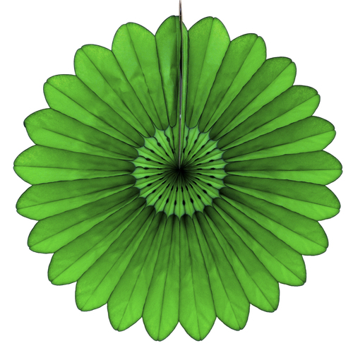 Dark Green Deluxe Tissue Paper Fan Decoration for Birthday Parties, Weddings, Baby Showers and Hen Dos