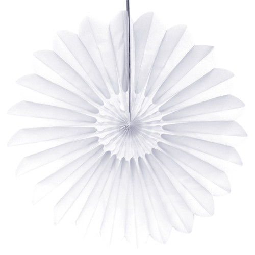 White Deluxe Tissue Paper Fan Decoration for Birthday Parties, Weddings, Baby Showers and Hen Dos