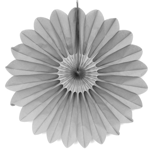 Grey Deluxe Tissue Paper Fan Decoration for Birthday Parties, Weddings, Halloween and Hen Dos