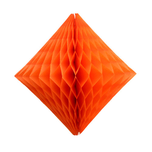 Orange Paper Diamond Geometric Decoration for Birthday Parties, Baby Showers, Weddings and Dessert Tables