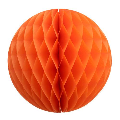 Orange Tissue Paper Honeycomb Ball Pom Pom Decoration