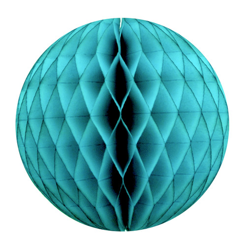 Teal Tissue Paper Honeycomb Ball