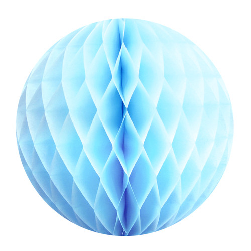 Light Blue Tissue Paper Honeycomb Ball Pom Pom Decoration