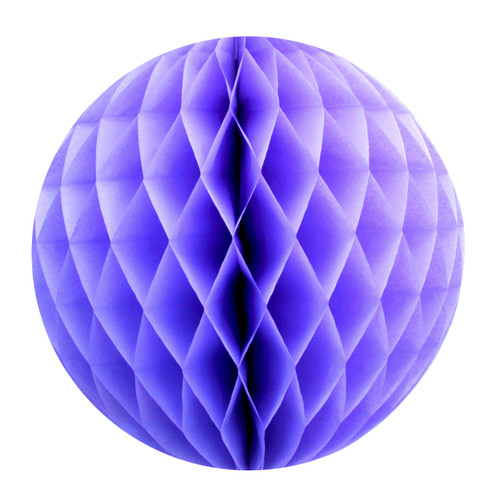 Lavender Tissue Paper Honeycomb Ball Pom Pom Decoration