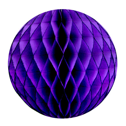 Purple Tissue Paper Honeycomb Ball Pom Pom Decoration