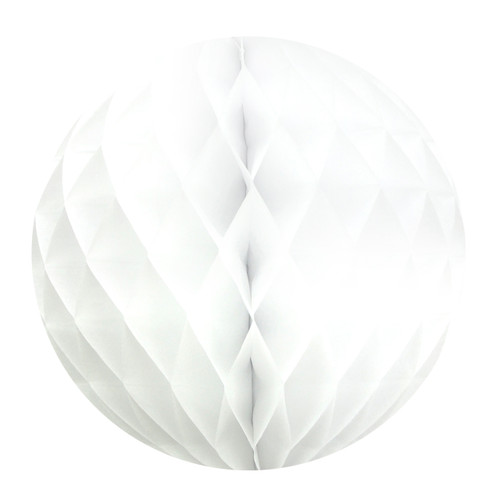 White Tissue Paper Honeycomb Ball Pom Pom Decoration