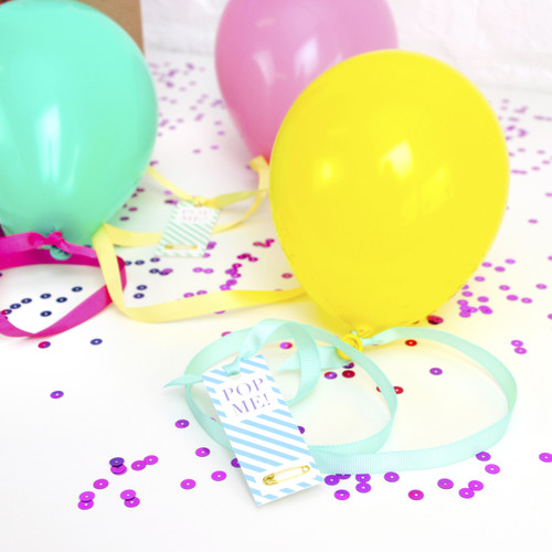 Personalised Message Balloon for fun surprise birthday gifts like concert tickets, holidays and popping the question!