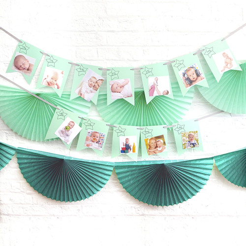 1st birthday photo bunting decoration for first birthday party