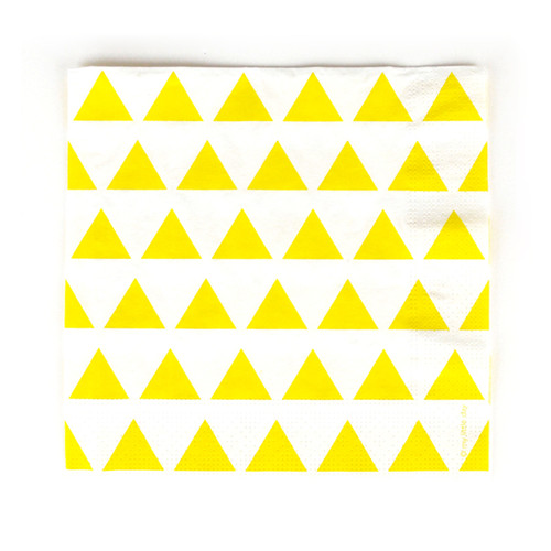 Yellow Triangle Paper Napkins