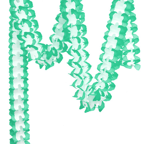Teal Tissue Paper Garland Decoration for Birthday Parties, Weddings, Baby Showers and Hen Parties