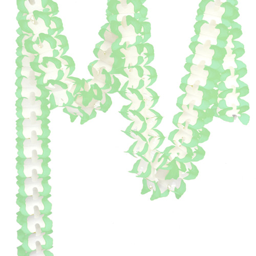 Mint Tissue Paper Garland Decoration for Birthday Parties, Weddings, Baby Showers and Hen Parties