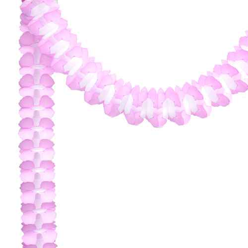 Light pink Tissue Paper Garland Decoration for Birthday Parties, Weddings, Baby Showers and Hen Parties
