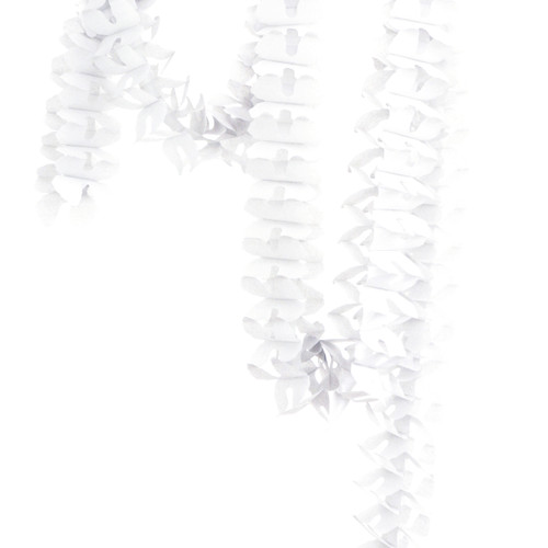 White Tissue Paper Garland Decoration for Birthday Parties, Weddings, Baby Showers and Hen Parties