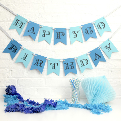 Personalised Birthday Party Bunting Decoration for childrens birthday parties, milestone birthdays and special occasions