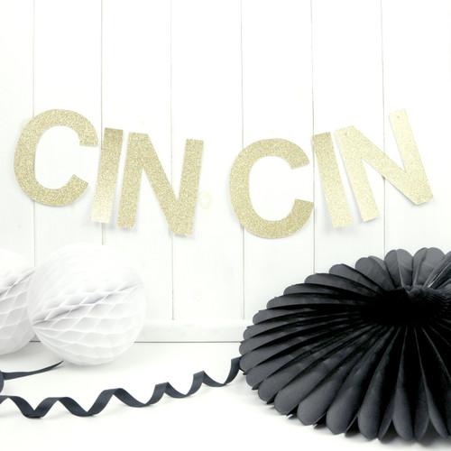 CIN CIN Gold and Silver Glitter Garland Decoration