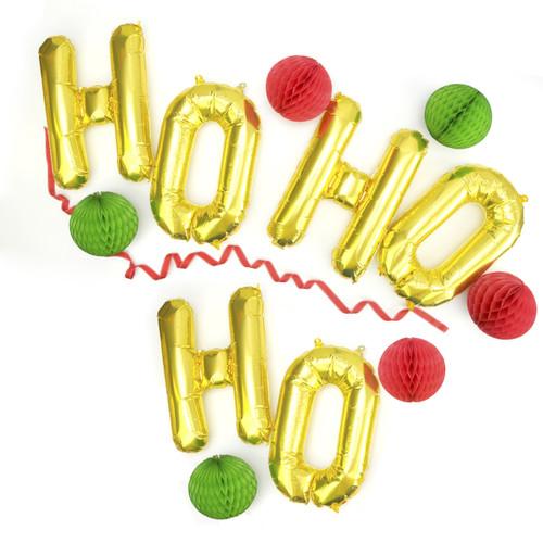 Ho ho ho Metallic Christmas Balloons