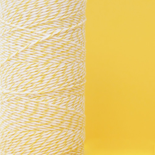 Lemon Yellow Bakers Twine made of cotton for Gift Wrap, Favours and Craft Projects